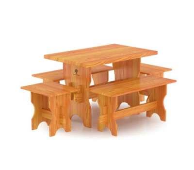 Стол для бани с 4мя лавками Bentwood