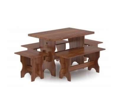 Комплект мебели для бани 6 чел. (стол, две скамейка мал.,две скамейки большие)