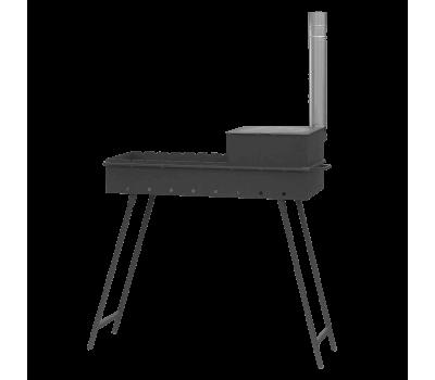 Мангал дачный М90К с печью под казан